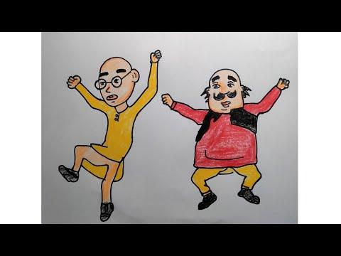 How to draw motu patlu#Shorts #Ytshorts #MotuPatlu