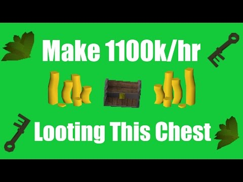 [OSRS] Make 1100k Opening This Chest! - Oldschool Runescape Money Making Method!