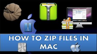 How to zip & unzip files in Mac?