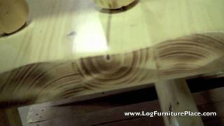 Jhe's Look At Our Cedar Lake Log Morgans Bench | Log Furniture Bench