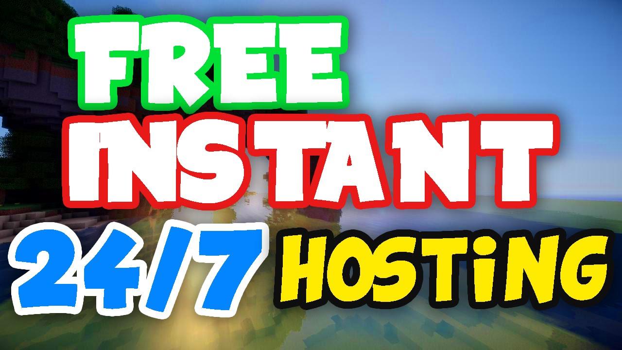 FREE MINECRAFT INSTANT SERVER HOSTING YouTube - Minecraft server erstellen 1 8 kostenlos 2016
