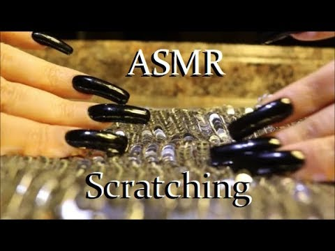 ASMR Relaxing Sequins Scratching Long Black Nails