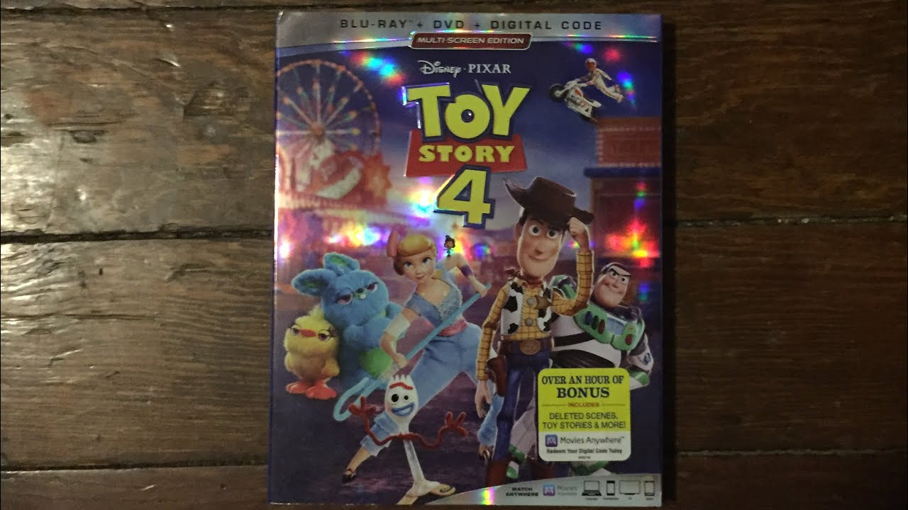 Toy Story 4 (2019) Blu-ray Unboxing (Free Digital Copy)
