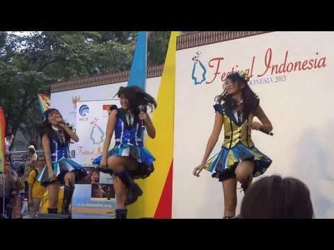 NABILAH JKT48 Goyang Cesar @indonesia Festival Ropponggi Hills,tokyo