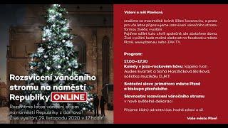 Rozsvícení vánočního stromu na náměstí Republiky (29.11.2020)