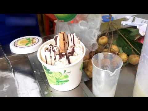 How To Make ICE CREAM ROLLS _ Peanut Ice Cream VS. Longan Fruit Ice Cream & Matcha Popcorn Ice Cream