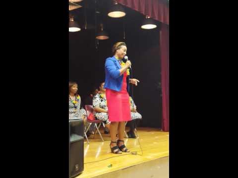 Suzette Speaks at 5th grade graduation ceremony at Sanders Park Elementary School in Pompano Beach