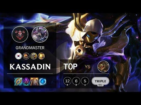 Kassadin Top Vs Renekton - KR Grandmaster Patch 10.4