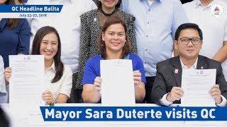 Mayor Sara Duterte visits QC