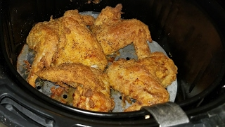 Air Fryer Chicken Wings House Autry Texas Pete 5.3qt Cook's Essentials AirFryer