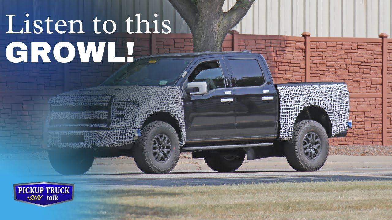 Spied testing with audio! 2022 Ford Raptor with V8 Growl!
