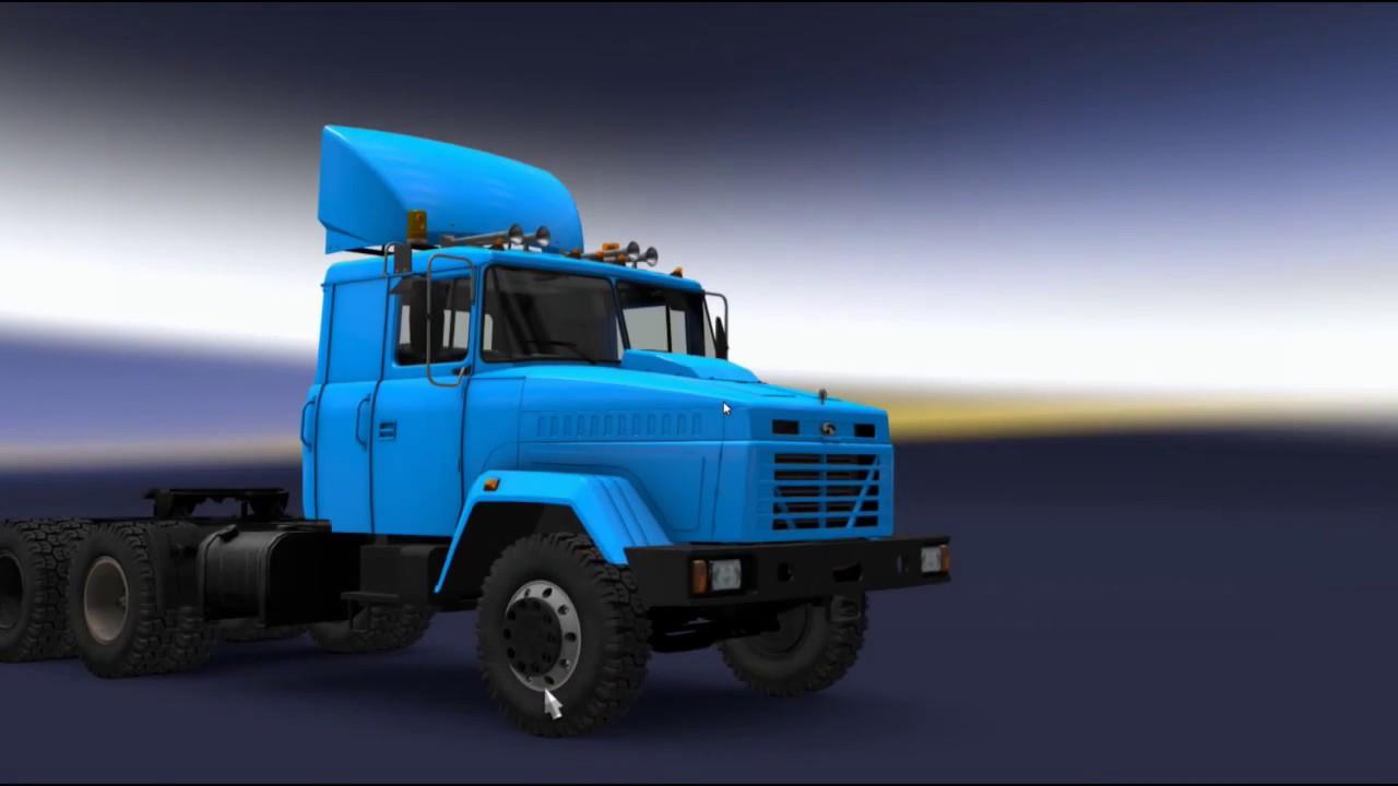 kraz 64431 review euro truck simulator 2 mod review youtube. Black Bedroom Furniture Sets. Home Design Ideas
