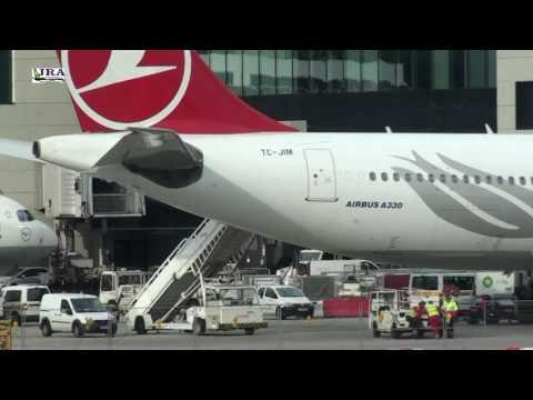 Pouso no Aeroporto de Frankfurt Voo Turkish Airlines Airbus A330