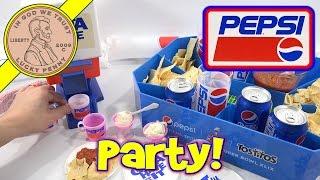 Pepsi Cola Majik Soda Fountain Dispenser Kids Party Set