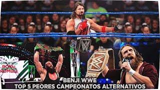 5 PEORES DISEÑOS ALTERNATIVOS DEL CAMPEONATO DE LA WWE - LOQUENDO