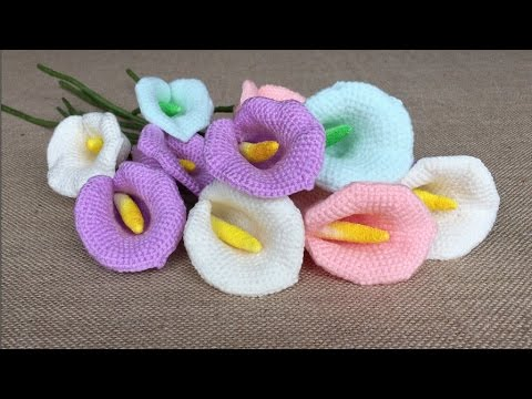 How To Crochet A Calla Lily Youtube