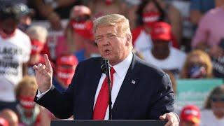 President Trump campaigns in Macon, Georgia