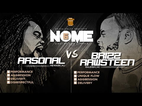 ARSONAL VS BRIZZ RAWSTEEN SMACK/ URL RAP BATTLE