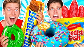 Download Making Giant Sour Candy!! How To Make The World's Largest DIY Real vs Gummy Food At Home Challenge Mp3 and Videos