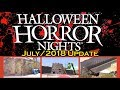 Universal Studios Hollywood July/2018 update for Halloween Horror Nights