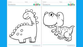Dinosaurios Para Colorear Youtube 67 dibujos de dinosaurio para imprimir y pintar. dinosaurios para colorear