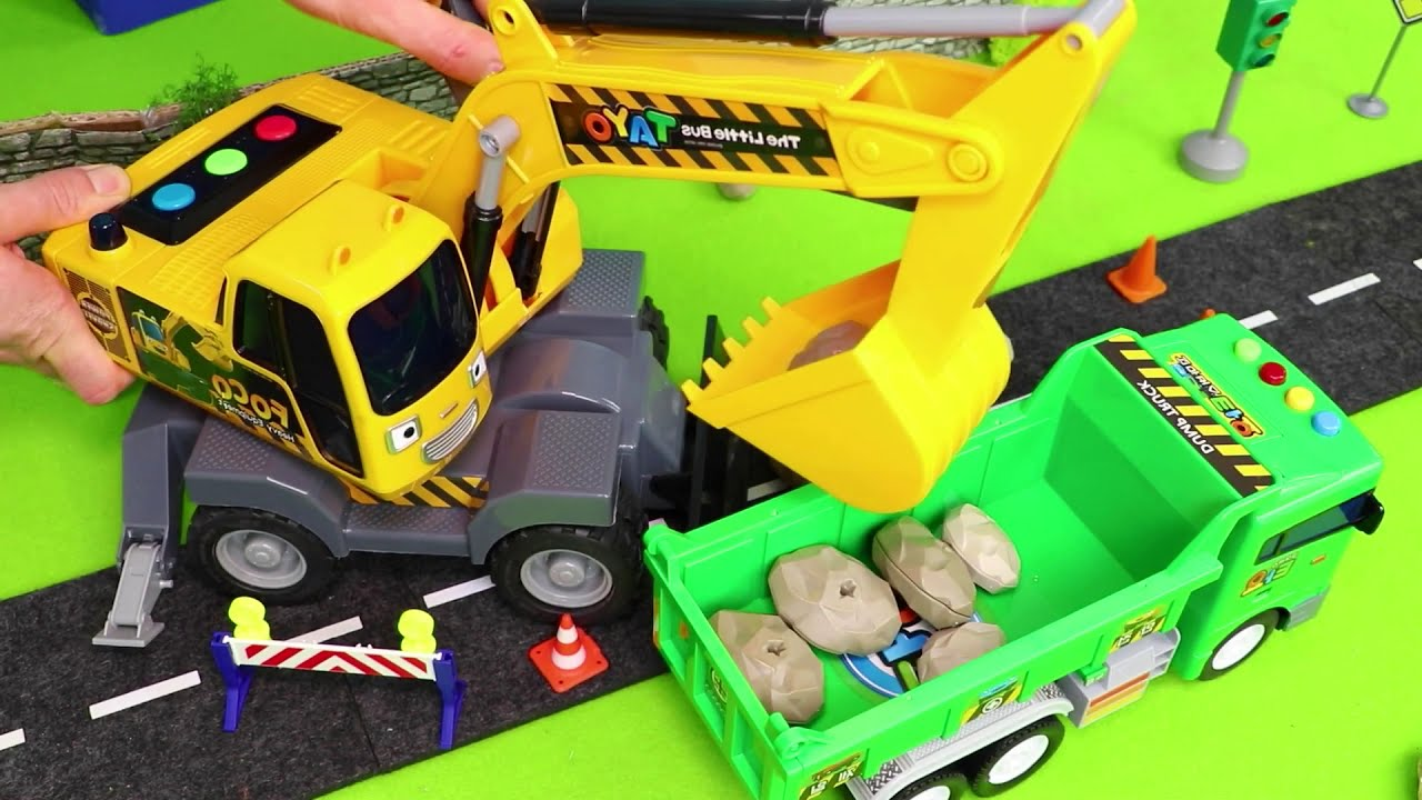 Fire Truck Excavator Police Cars Trains Tractor