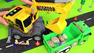Fire Truck, Excavator, Police Cars, Trains, Tractor, Garbage Trucks & Bus Toy Vehicles for Kids