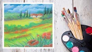 Видео урок Рисуем Пастелью Прованс! #Dari_Art