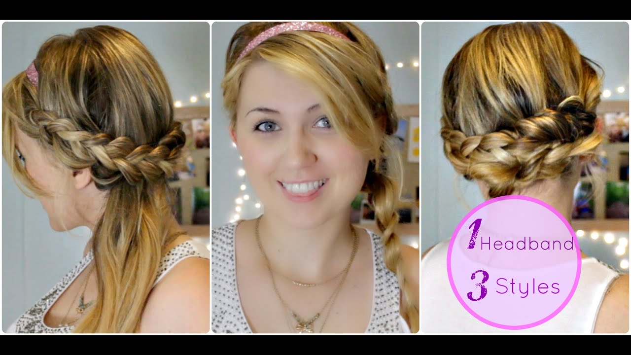 Three Easy, Heatless, Braided Hairstyles With Headbands