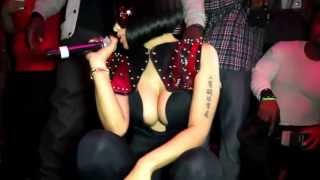 Nicki Minaj  boobs and ass 2012 Christmas Party