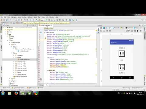 Develop Simple Dice Game In Android Studio