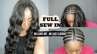 FULL SEW IN NO LEAVE OUT OR LACE CLOSURE  || MESARIEL HAIR ON AMAZON
