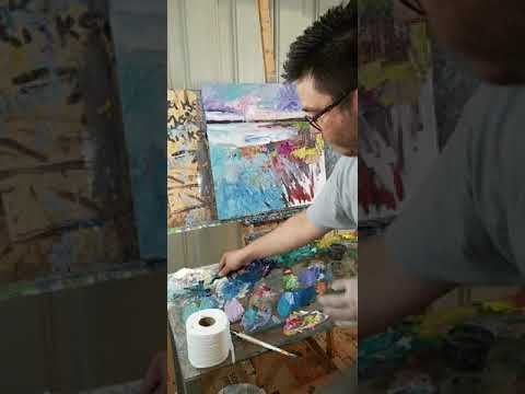 Oil Painting Demo of Marshland with Palette Knife and Brush – Artists Jose Trujillo