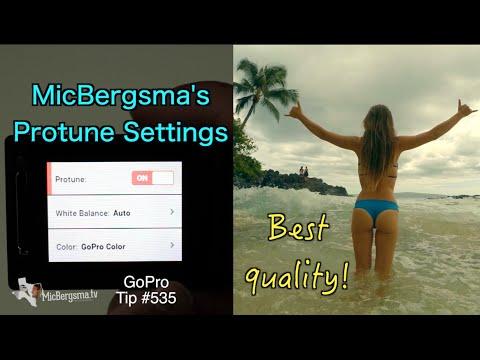 Best GoPro Protune Settings! MicBergsma's Favorite - GoPro Tip #535