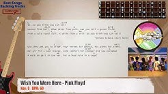 Wish You Were Here - Pink Floyd Bass Backing Track with chords and lyrics