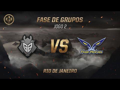 G2 x Flash Wolves (Fase de Grupos - Jogo 4 - Dia 3) - MSI 2017