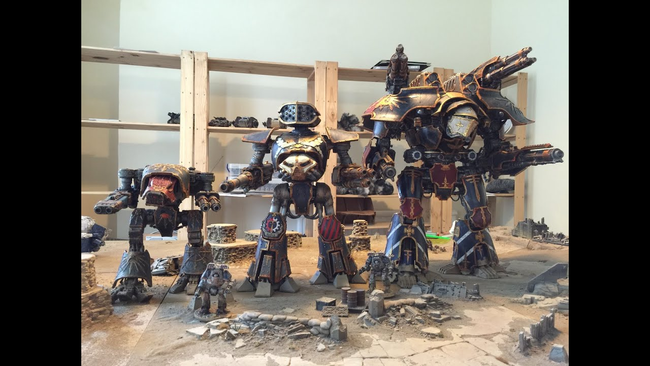 Imperial Titan comparison - Warlord, Reaver and Chaos Warhound (Forgeworld  models)
