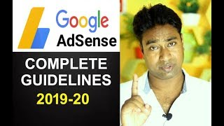A-Z Complete Adsense Rules, Guidelines & policy for Youtuber , Blogger & Admob users 2019-20