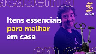 Imagem do prévia do vídeo: Como montar uma ACADEMIA EM CASA l BICICLETA ERGOMÉTRICA, ESTEIRA, HALTERES e muito mais!