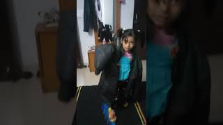 Dramebaaj little cute girl, Spiderman cute little girl acting