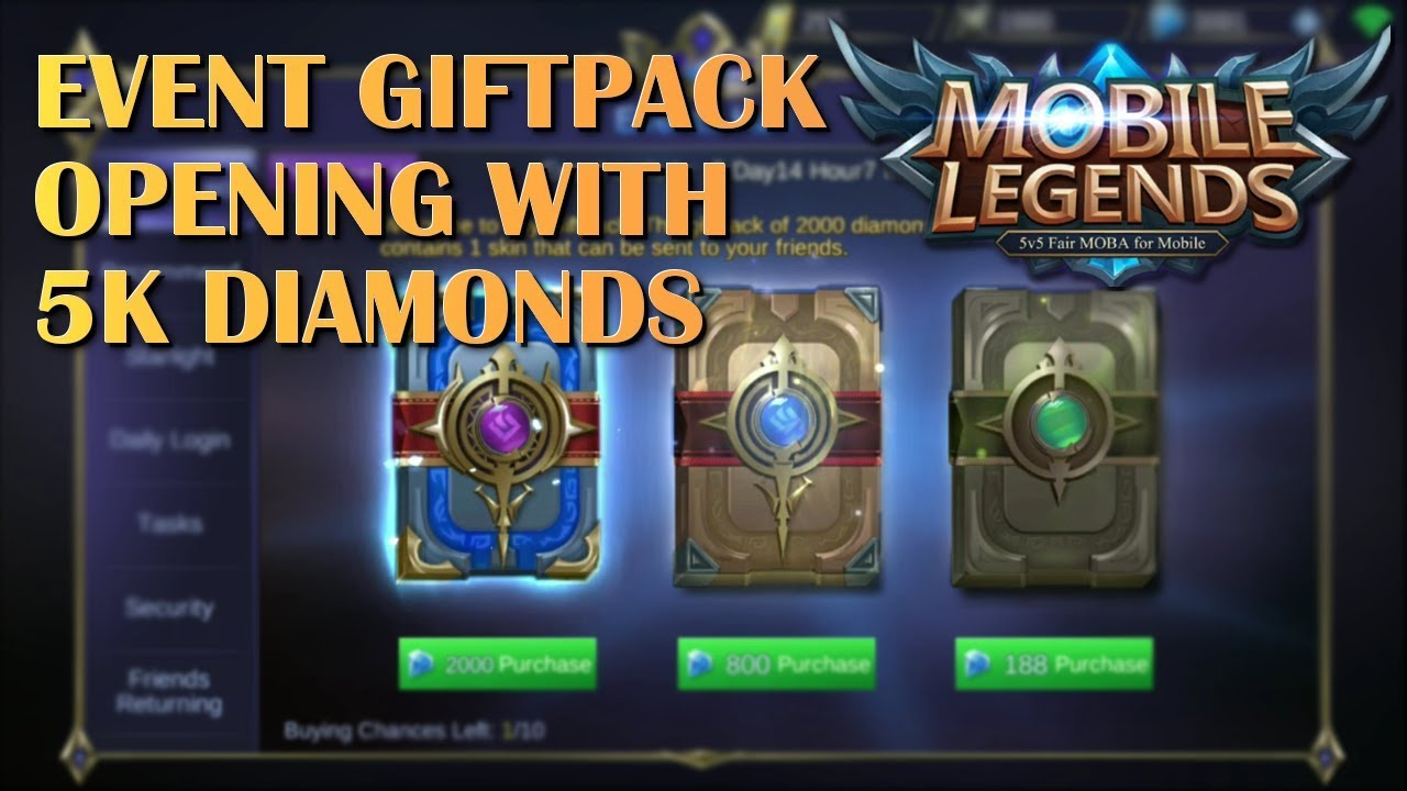 Event Calendar Mobile Legend : Mobile legends k diamonds giftpack opening event youtube