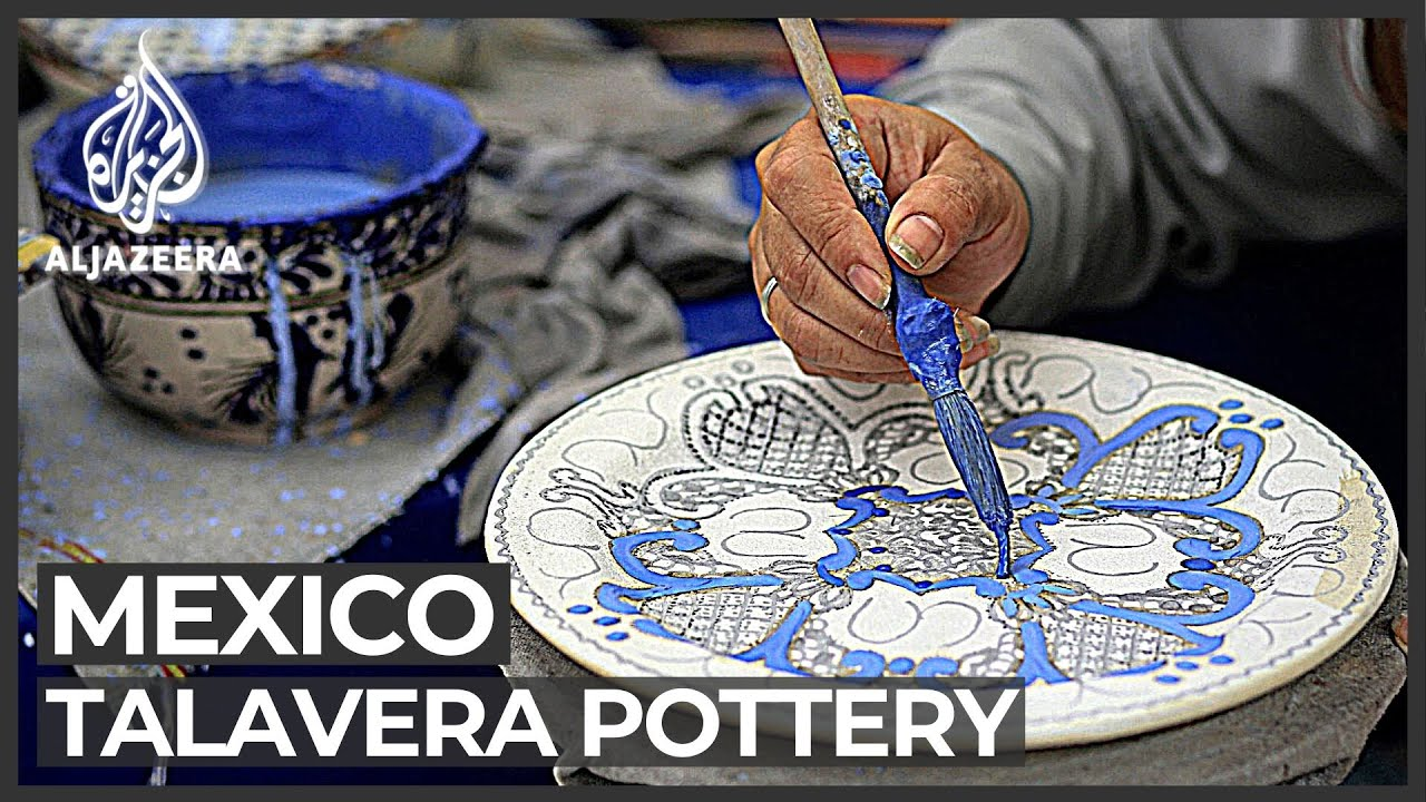 Talavera Pottery In Mexico Traditional Style Listed By Unesco Youtube