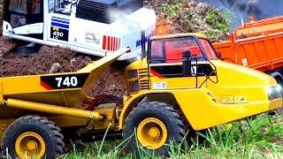 RC Construction´s stucking in the MUD! Rc Dump Truck! RC Dozer! Rc Excavator! Wächtersbach!