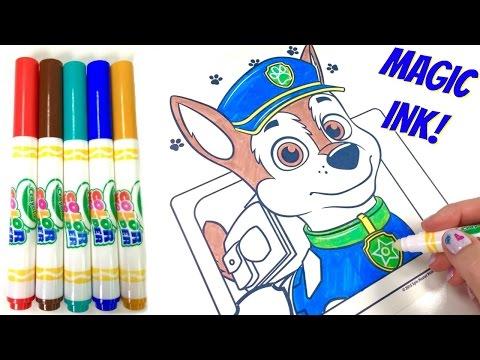Paw Patrol Chase Crayola Color Wonder Magic Ink Marker Coloring Book Surprise!