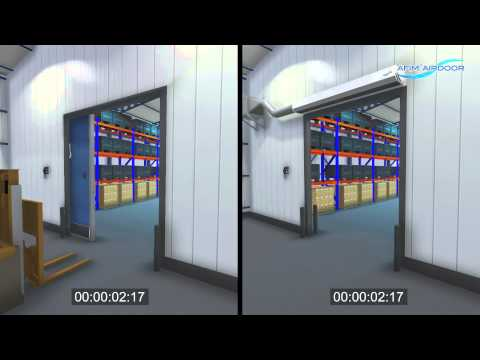 AFIM® Air Door, the benefits, principle and application (industrial air curtain)
