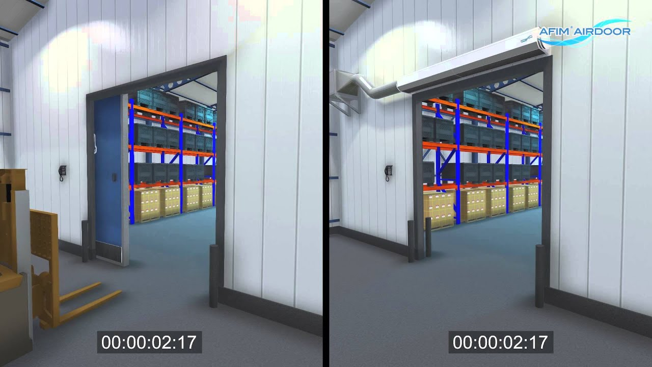 afim air door the benefits principle and application industrial air curtain