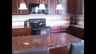 Tan Brown Granite-dark Wood-half Bullnose-60/40 Sink- Concord Nc 4 25 12