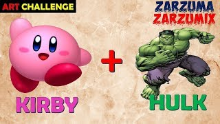 ART CHALLENGE HOW TO DRAW KIRBY HULK EASY AND FAST