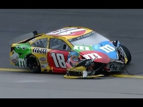 NASCAR Kyle Busch crashes at Kansas | Kansas Speedway (2013)