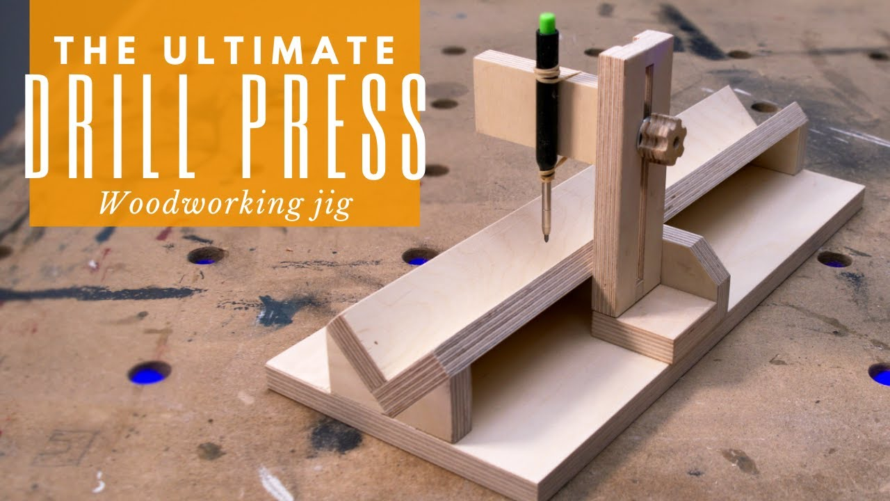 Awesome drill press woodworking jig   A must-have for every DIYer!